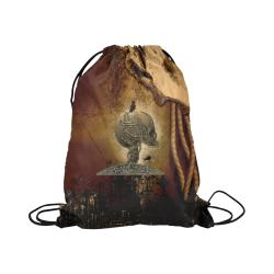 "Mechanical skull Large Drawstring Bag Model 1604 (Twin Sides)  16.5""(W) * 19.3""(H)"