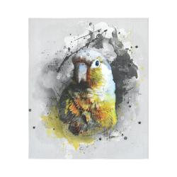 """bird parrot art #parrot #bird Cotton Linen Wall Tapestry 51""""x 60"""""""