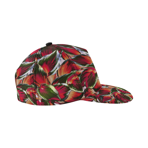 leafs_abstract 03 All Over Print Snapback Hat D