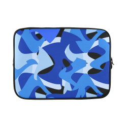 Camouflage Abstract Blue and Black Custom Sleeve for Laptop 15.6""