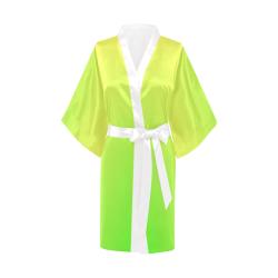 Neon Yellow Green Tie Dye Kimono Robe