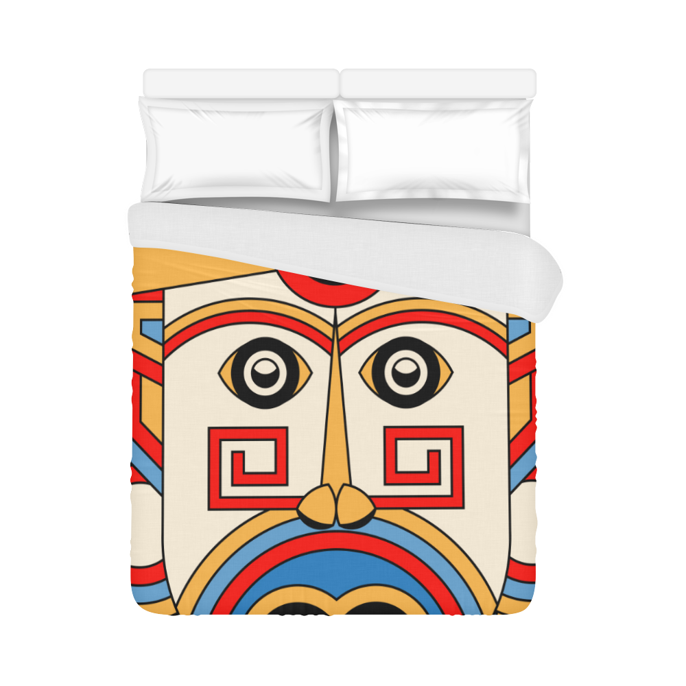 "Aztec Religion Tribal Duvet Cover 86""x70"" ( All-over-print)"