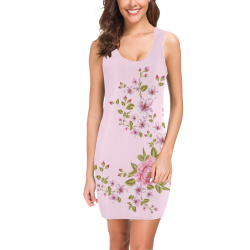 Pure Nature - Summer Of Pink Roses 1 Medea Vest Dress (Model D06)