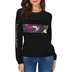 Purple Tulip #LoveDreamInspireCo Women's Fringe Detail Sweatshirt (Model H28)