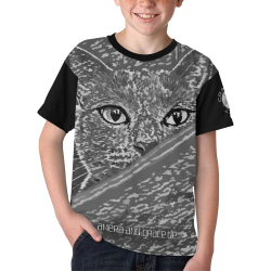 CAT AMERA CAMOUFLAGE GREY II Kids' All Over Print T-shirt (Model T65)