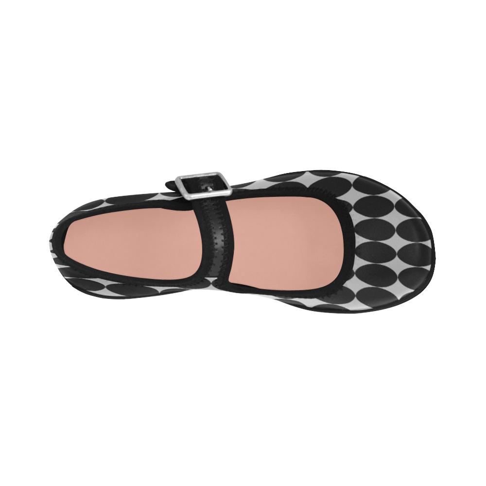 Mod Geo Black Gray Virgo Instep Deep Mouth Shoes
