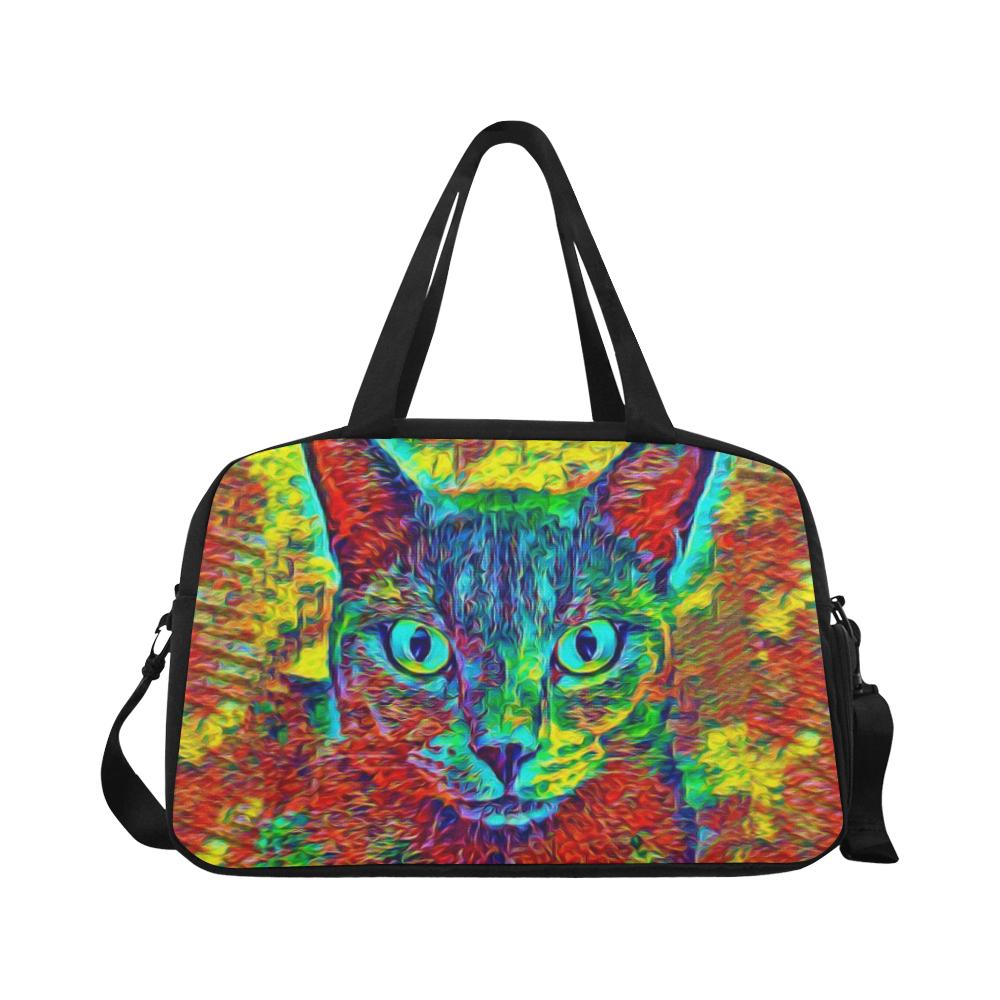 CAT ART MULTICOLOR Fitness Handbag (Model 1671)