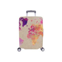 "world map #map #worldmap Luggage Cover/Small 18""-21"""