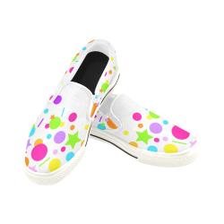Fantasy Women's Slip-on Canvas Shoes (Model 019)