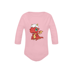Baby Red Dragon Pink Baby Powder Organic Long Sleeve One Piece (Model T27)