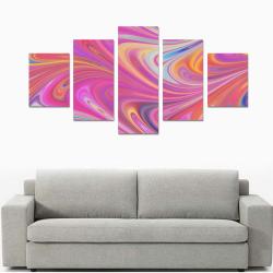 Pink Fantasy Canvas Print Sets B (No Frame)