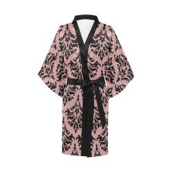 Bridal Rose Damask Kimono Robe