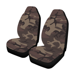Camo Red Brown Car Seat Covers (Set of 2)