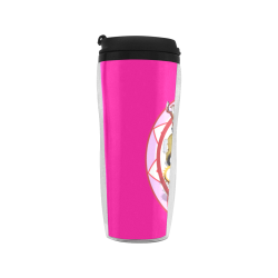 LasVegasIcons Poker Chip - Pink on Hot Pink Reusable Coffee Cup (11.8oz)
