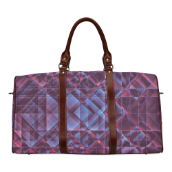 pixels blue red #pixels Waterproof Travel Bag/Large (Model 1639)