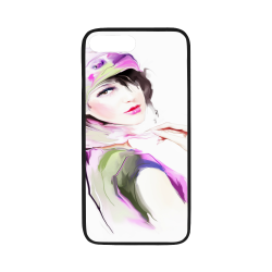 """Watercolor Girl V3 Rubber Case for iPhone 7 plus (5.5"""")"""