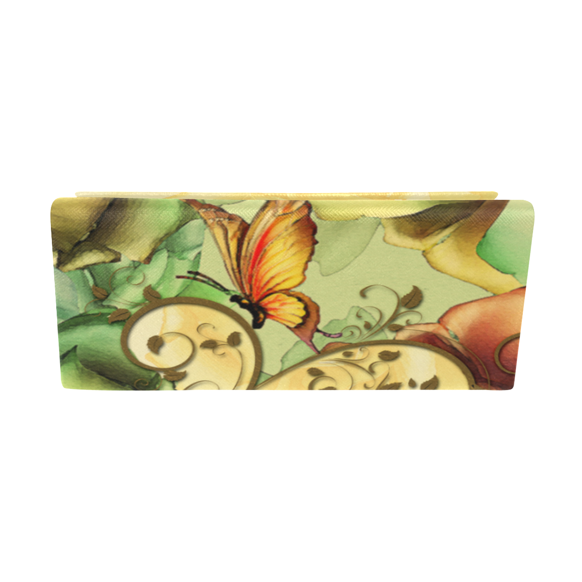 Colorful flowers with butterflies Custom Foldable Glasses Case