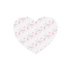 Pattern Orchidées Heart-shaped Mousepad