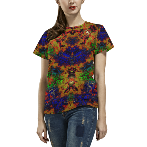 Lysergic All Over Print T-Shirt for Women (USA Size) (Model T40)