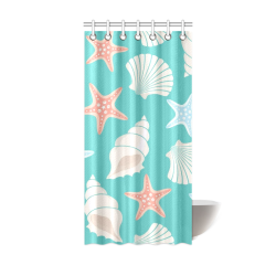 "shells Shower Curtain 36""x72"""