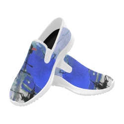 Lua blue Orion Slip-on Men's Canvas Sneakers (Model 042)
