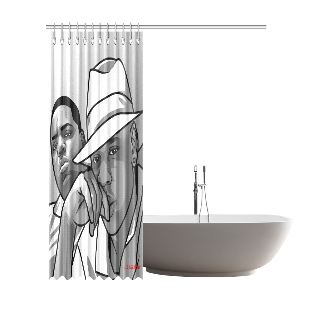 """JAY Z AND BIGGIE Shower Curtain 72""""x84"""""""