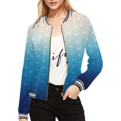 04 WINTER All Over Print Bomber Jacket for Women (Model H21)