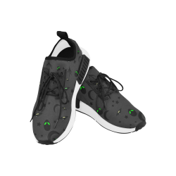 Alien Flying Saucers Stars Pattern (Black/Charcoal) Men's Draco Running Shoes (Model 025)
