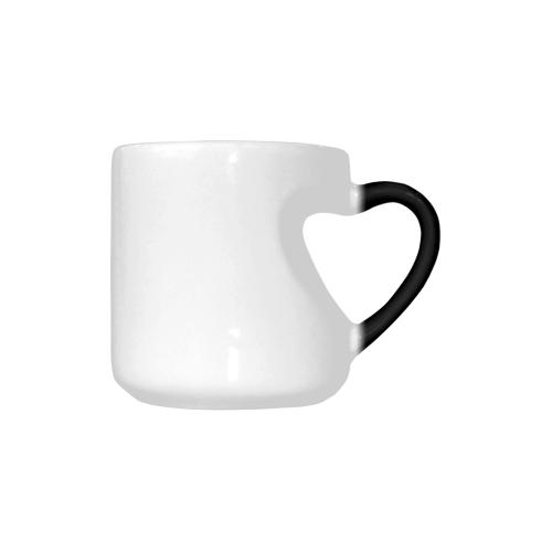 Cat Silhouette Heart-shaped Morphing Mug