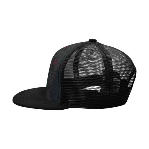 SKULL ABSTRACT BASECAP II Trucker Hat H (Front Panel Customization)