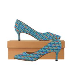 zappwaits w4 Women's Pointed Toe Low Heel Pumps (Model 053)