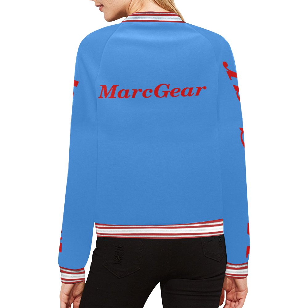 MarcGear Womens YAAG All Over Print Bomber Jacket for Women (Model H21)