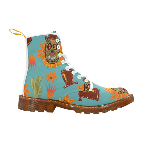 Day of the dead, Sugar Skull Martin Boots For Women Model 1203H