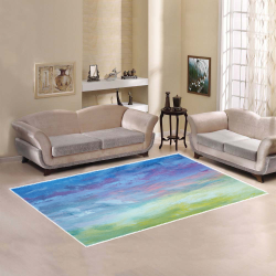 Gorgeous Gradient Abstract Area Rug Area Rug7'x5'