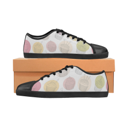 Colorful Cupcakes Canvas Kid's Shoes (Model 016)