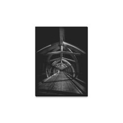 """Puente de Luz Pedestrian Bridge No 1 Canvas Print 12""""x16"""""""