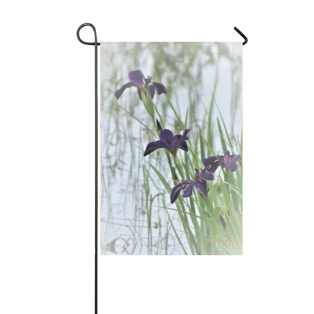 Black Gamecock Iris Garden Flag 12''x18''(Without Flagpole)