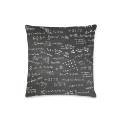 "Mathematics Formulas Equations Numbers Custom Zippered Pillow Case 16""x16""(Twin Sides)"