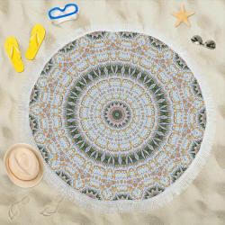 """Peace Mandala Circular Beach Shawl 59""""x 59"""""""