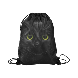 "Black Cat Large Drawstring Bag Model 1604 (Twin Sides)  16.5""(W) * 19.3""(H)"