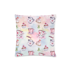 """Coffee and sweeets Custom Zippered Pillow Case 16""""x16"""" (one side)"""