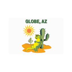 """Globe, Arizona Doormat 24""""x16"""""""