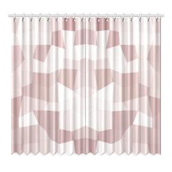 "Mauve Beige Mosaic Window Curtain 52""x96""(Two Piece)"