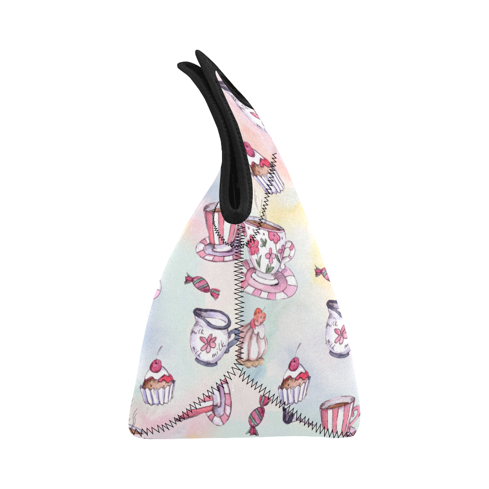 Coffee and sweeets Neoprene Lunch Bag/Small (Model 1669)