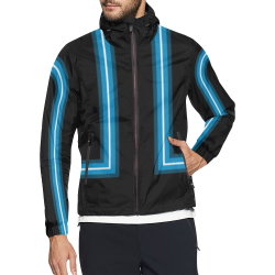 Blue Neon Tron Paw Unisex All Over Print Windbreaker (Model H23)
