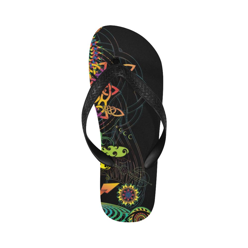 Flip-flop beach maya color-01 Flip Flops for Men/Women (Model 040)