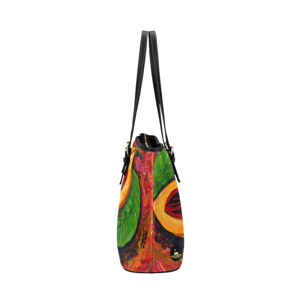 manusartgnd Leather Tote Bag/Large (Model 1651)