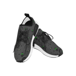 Alien Flying Saucers Stars Pattern (Black/Charcoal) Women's Draco Running Shoes (Model 025)