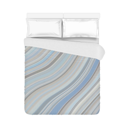 "Mild Wavy Lines 10 Duvet Cover 86""x70"" ( All-over-print)"