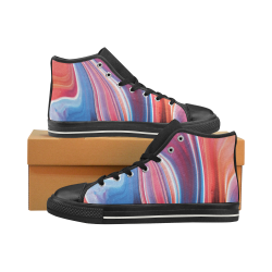 oil_b High Top Canvas Shoes for Kid (Model 017)